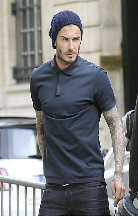 DAVID BECKHAM CASUAL LOOK